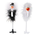 Jellbaby Wedding supplies holiday gifts business wedding supplies black and white couple ostrich pen