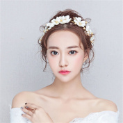DELLT- Korean Bride Headdress Sen Department Of Flowers Hair Accessories Bridesmaid Accessories Wedding Head Flower Jewellery Hair Hoop Crown