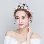DELLT- Bride Hair Accessories Simulation Sen Female Head Flower Jewellery Hair Banding Bridesmaid Flower Headdress Wedding Accessories To Send Earrings