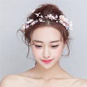 DELLT- Bride Wedding Wreath Headdress Sen Department Of Bridesmaid Hair Ornaments Handmade Wedding Accessories Korean Style Flower Ornaments Hair Bands