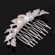 Westeng Bridal Hair Comb Clip Silver Wedding Hair Comb Crystal Headdress for Wedding/Party/Prom