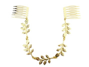 Westeng Bridal Hair Comb Clip Golden Wedding Hair Comb Chain Headdress for Wedding/Party/Prom