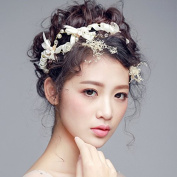 Women Pearl/Bow Headband With Pearl Wedding/Party Headpiece