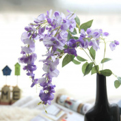 Xshuai® Artificial Silk Wisteria Fake Garden Hanging Flower Plant Vine Perfect for Party Birthdays Anniversaries Valentines Wedding Wall Decoration