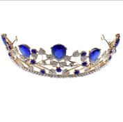 Bride crown headdress bride alloy crystal fashion hair ornaments diamond bride hair ornaments blue