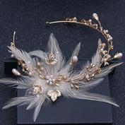 Women's Headpiece-Wedding Bride Fascinators Feathers Hair Hoop Wedding Jewellery Accessories