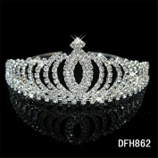 Women Rhinestone Headpiece Bride Rhinestones Crown Wedding Dress Accessories for Wedding /Engagement / Birthday / Gift / Party / Special Occasion Dress Jewellery Accessories