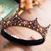 European-style retro Baroque bride round crown ornaments