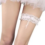 Western-Style Elegant Bowknot Lace Wedding Garter Pearl Bridal Leg Garter Belt Lace Bride Wedding Props Accessories
