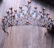 Baroque Crystal Grand Crown bride headdress jewellery
