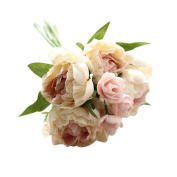 VENMO Beauty Bridal Artificial Bouquet White Peony Flower Party Home Deco Wedding Prop