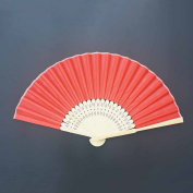HANGQI 5Pcs Stunning Silk Fans With Gift Bag Wedding Favours Party Bridal
