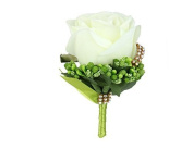 Artificial silk flower Rose Corsage Wedding groom brother mission sisters corsages Diamond brooch