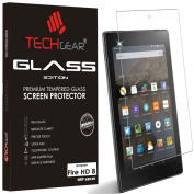 TECHGEAR® Amazon Fire HD 20cm Tablet GLASS Edition Genuine Tempered Glass Screen Protector Guard Cover