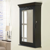 Nathan Direct Morris Black Wall Mounted Jewellery Armoire Box with Lock