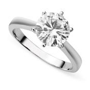 Charles & Colvard Forever Brilliant White Gold Round 7.5mm Moissanite Engagement Ring, 1.50ct DEW