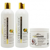 "Dominican Magic Nourishing Shampoo & Conditioner & Deep Fortifying Conditioner ""Set"""