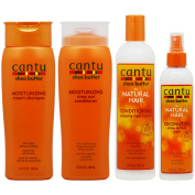"Cantu Moisturising Shampoo + Conditioner + Conditioning Hair Lotion + Coconut Mist ""Set"""