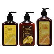 "Amir Moisturising Shampoo & Conditioner 350ml & Argan Oil Touch of Tan 530ml ""Set"""