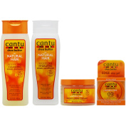 "Cantu Shea Butter Cleansing Shampoo + Conditioner + Custard + Edge Gel ""Set"""