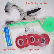 High Quality Plant Branch Hand Tying Staples + Tapener + Tapes Binding Machine Flower Vegetable Garden Tools