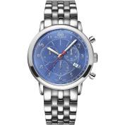 88 Rue du Rhone Men's Double 8 Origin 42mm Steel Bracelet & Case Quartz Blue Dial Analogue Watch 87WA120051