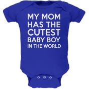 My Mom has the Cutest Baby Boy Royal Soft Baby One Piece