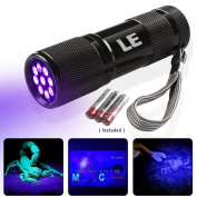 Lighting EVER Ultra Bright Violet LED Flashlight Blacklight Pet UV Urine & Stain Detector Torch