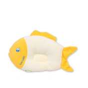 LUOTIANLANG Pillow with high quality of infant shape pillow to prevent deformation of baby head,Yellow, 20*35cm