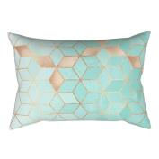 Pu Ran 46cm Square Shape Modern Geometric Pillowcase Home Bedroom Cushion Cover Decor - 16#