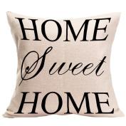 "ZebraSmile ""HOME"" Pillow with Pillowfillow Sofa Throw Cushion Party Home D¨¦cor For Car Chair Seatback Cushion with Inner Home Sofa 43cm x 43cm"