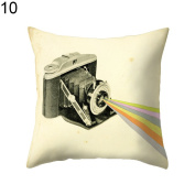 timeracing Fashion Modern Camera Print Sofa Bed Chair Pillow Case Cushion Cover Home Room Decor