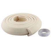 sourcingmap® Furniture Corner Edge Soft Safety Protection Cushion Guard Beige w Adhesive Tape