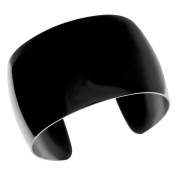 BIG Jewellery Co Black Ion-plated Stainless Steel 40-mm Cuff Bracelet