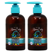 """As I am Born Curly Argan Leave In Conditioner & Detangler 240ml """"Pack of 5.1cm"""