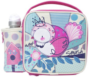 Smash Woot Insulated Lunch Bag and 350ml Bottle -Pink