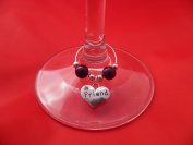 Individual Friend Wine Glass Charm by Libby's Market Place