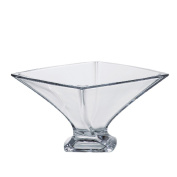 """Quadro"" Square Crystal Bowl"