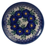Traditional Polish Pottery, Handcrafted Ceramic Dessert Plate 17cm, Boleslawiec Style Pattern, T.101.PANSY