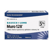 Bausch & Lomb Muro 128 Ointment 5%, 3.5 g, 2 ct