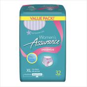 Assurance Incontinence Underwear for Women, Maximum, XL, 32 Ct