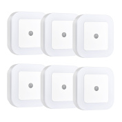 Litom LED Night Light 0.5W Plug In Square LED Night Light with Auto ON/OFF Sensor for Baby/Kids Bedroom, Living room, Bathroom ,Hallway