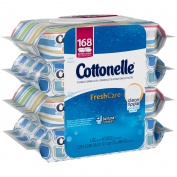 Cottonelle Fresh Care Flushable Wipes, 168 Ct