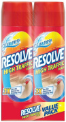 Resolve Dual Pack High Traffic Carpet Foam, 1300ml (2 Cans x 650ml), Cleans Freshens Softens & Removes Stains