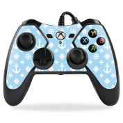 MightySkins Protective Vinyl Skin Decal for PowerA Pro Ex Xbox One Controller case wrap cover sticker skins Baby Blue Designer