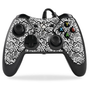 MightySkins Protective Vinyl Skin Decal for PowerA Pro Ex Xbox One Controller case wrap cover sticker skins Abstract Black