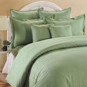 1000 TC King Size Sage Striped Egyptian Cotton Bed Sheet Set