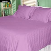 1000 TC King Size Lavender Striped Egyptian Cotton Bed Sheet Set