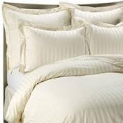 1000 TC King Size Ivory Striped Egyptian Cotton Bed Sheet Set