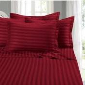 1000 TC King Size Wne Striped Egyptian Cotton Bed Sheet Set